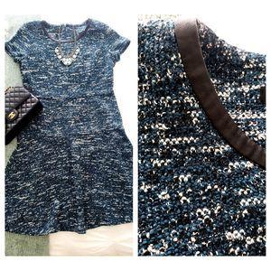 Talbots Marled Fit & Flare short sleeved dress 14